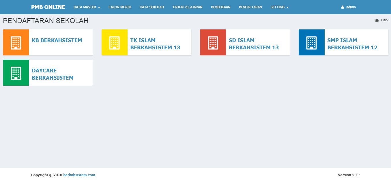 <p>Halaman Pendaftaran Berdasarkan Tingkatan Sekolah<br></p>