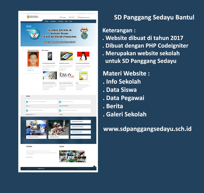 Website SD Panggang Sedayu Bantul