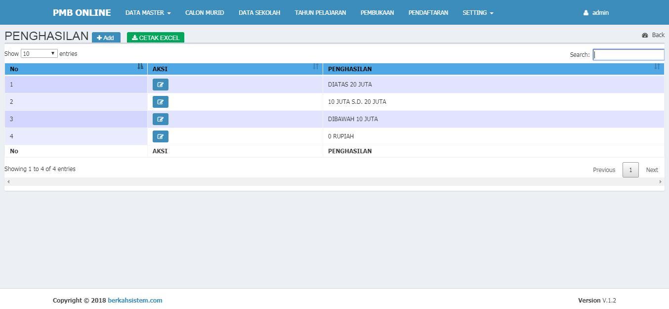 <p>Halaman Data Master Penghasilan<br></p>
