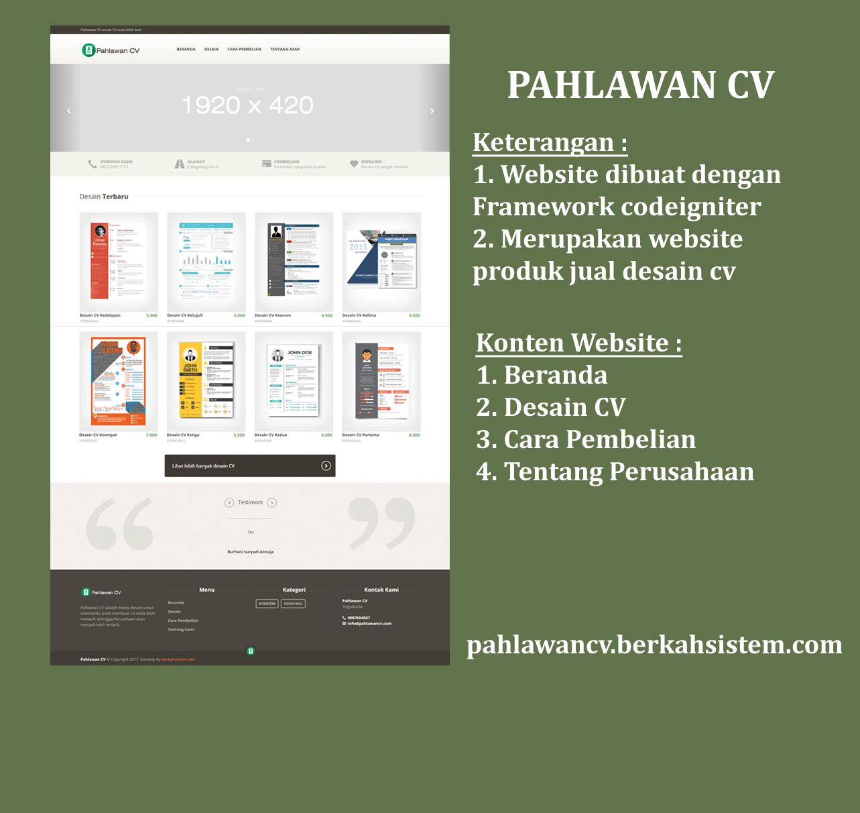 Website Jasa Pembuatan Desain CV
