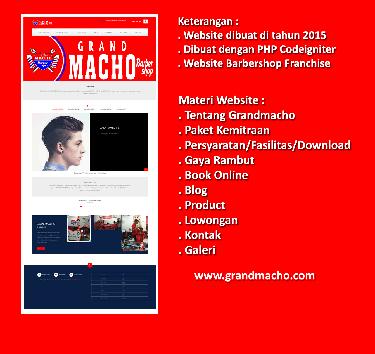 Website Grandmacho Barbershop Franchise