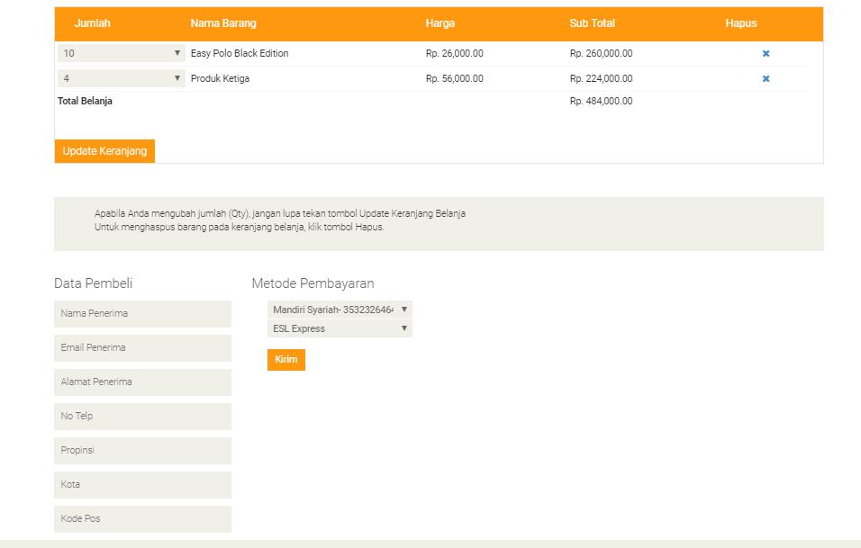 <p>Form Pengisian Data Diri Calon Pembeli</p>