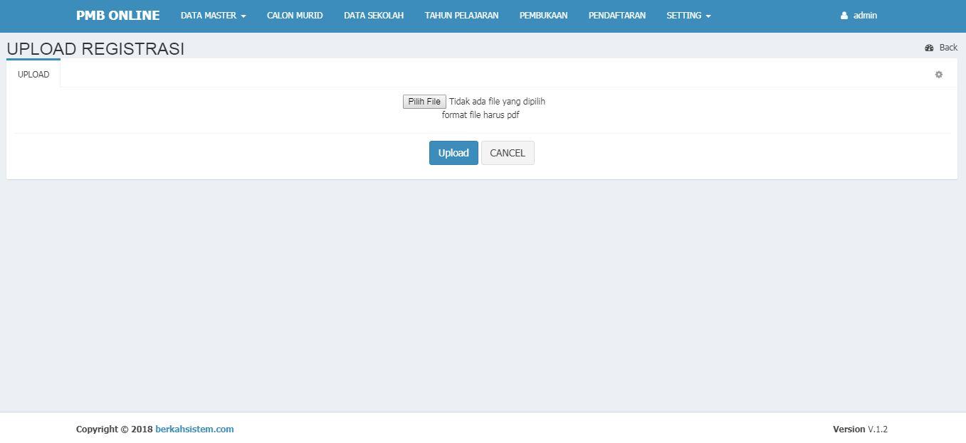 <p>Halaman Upload Bukti Registrasi<br></p>